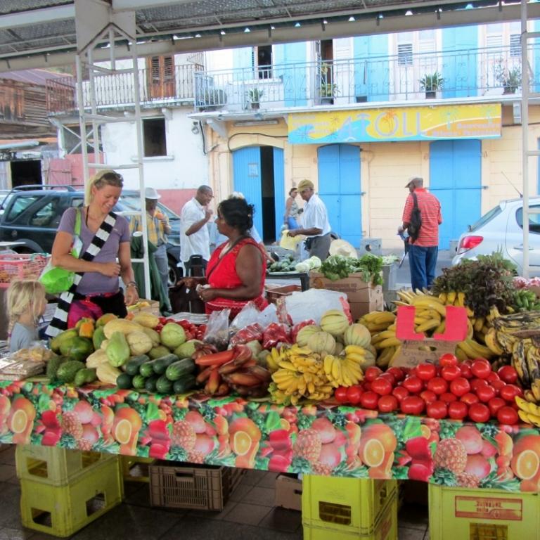 Gemüse- und Fischmarkt